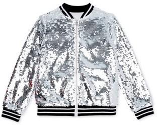 Wonder Nation Girls 4-18 & Plus Flip Sequin Bomber Jacket