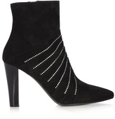 Saint Laurent Lily crystal-embellished suede boots