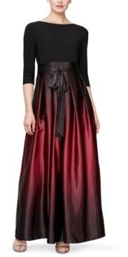 SL Fashions Petite Ombre Satin Gown