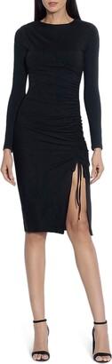 Susana Monaco Ruched Long Sleeve Body-Con Dress