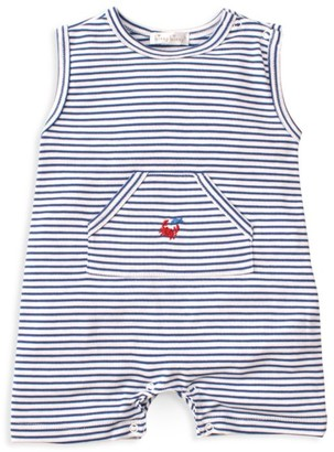 Kissy Kissy Baby Boy's Whale Of A Time Striped Playsuit