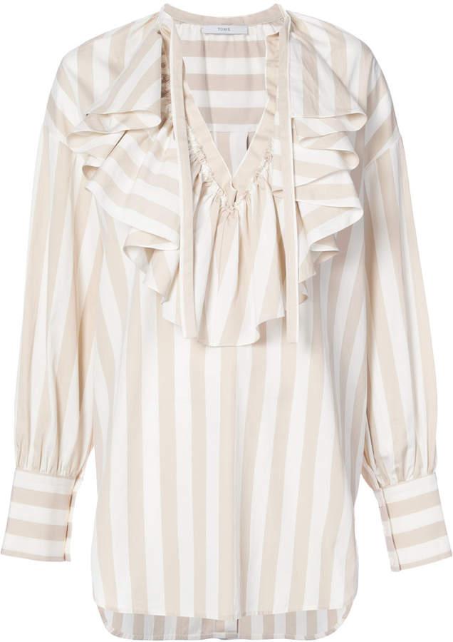 Tome ruffled V-neck blouse