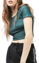 Topshop Scoop Back Crop Top