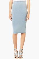 Topshop 'Denim Look' Tube Skirt