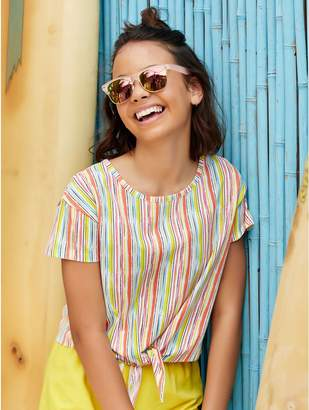 M&Co Teen striped cropped t-shirt