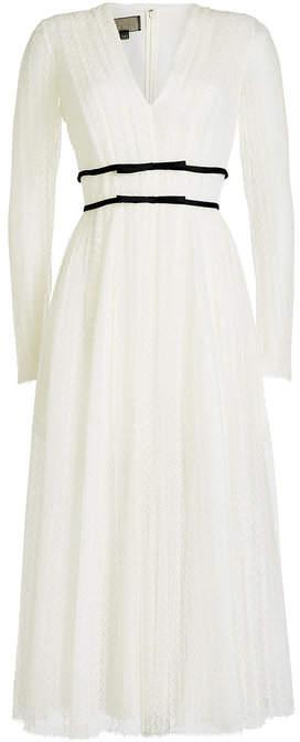Giambattista Valli Tulle Lace Dress with Cotton