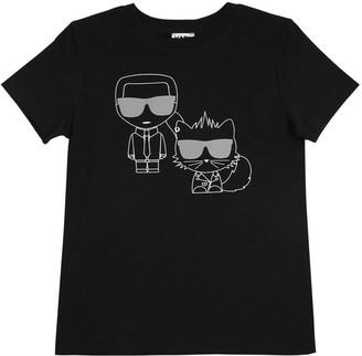 Karl Lagerfeld Paris & Choupette Cotton Jersey T-shirt