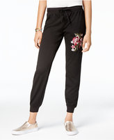 Ultra Flirt Juniors' Embroidered Jogger Pants