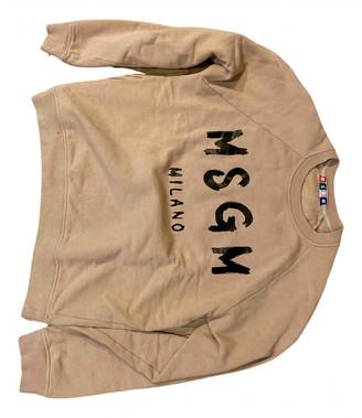 MSGM Beige Cotton Knitwear