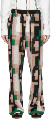 Loewe Pink and Black Mohair Graphic Trousers