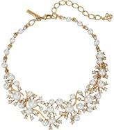 Oscar de la Renta Scattered Pearl and Crystal Necklace Necklace
