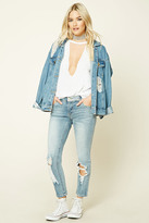 Forever 21 FOREVER 21+ Distressed Skinny Jeans