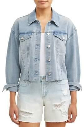 Sofia Jeans By Sofia Vergara Giselle Cropped Denim Jacket Women's