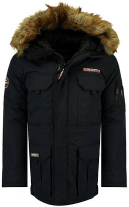 Geographical Norway Alpes Hooded Parka with Zip Fastening