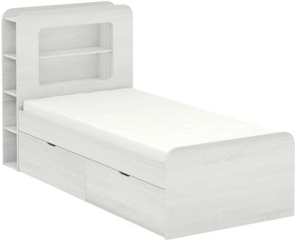 Aspen Kids Storage Bed Frame - White