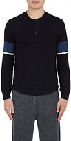 Solid & Striped MEN'S STRIPED-SLEEVE HENLEY-BLACK SIZE S