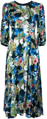Paul Smith Long Abstract-Print Dress
