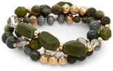 Catherine Stein Three-Strand Olive Stretch Bracelet
