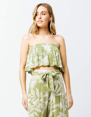 Patrons Of Peace Floral Womens Tube Top