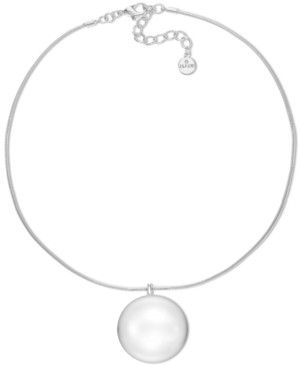 """Alfani Silver-Tone Orb Pendant Necklace, 19"""" + 3"""" extender, Created for Macy's"""