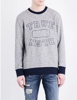 True Religion Logo-embroidered cotton sweatshirt