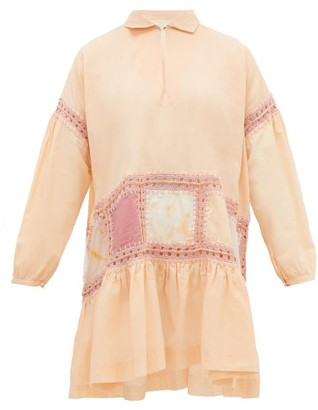 story. Mfg. - Olga Crochet-trim Voile Mini Dress - Womens - Pink