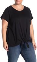 Sanctuary Short Sleeve Tie Bottom T-Shirt (Plus Size)