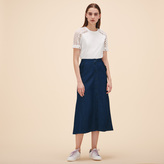 Maje Embroidered T-shirt with eyelets