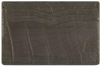 Ethan K Crocodile Leather Card Holder
