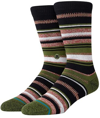 Stance Ernesto (Olive) Men's Crew Cut Socks Shoes