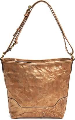 Frye Small Melissa Metallic Crunch Leather Hobo Bag