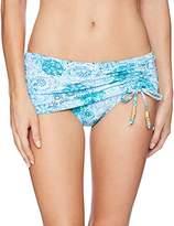 Bleu Rod Beattie Women's Soak up the Sun Sarong Skirted Hipster Bikini Bottom
