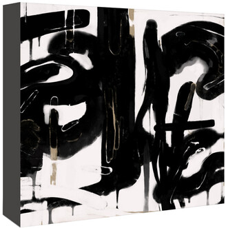 American Flat Americanflat Black And White Abstract 5 By Kasi Minami Canvas Artwork