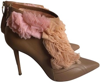 Malone Souliers Beige Leather Ankle boots