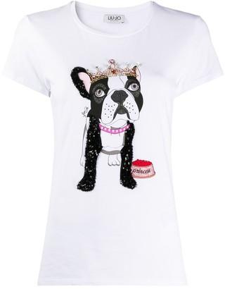 Liu Jo Princess bulldog T-shirt