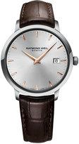 Raymond Weil Men's Swiss Toccata Brown Leather Strap Watch 39mm 5488-SL5-65001