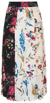 Maje Printed Crepe De Chine Skirt