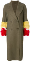 Ermanno Scervino fur trim double-breasted coat