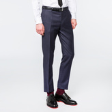 Paul Smith Men's Slim-Fit Navy Two-Colour Puppytooth Wool Trousers