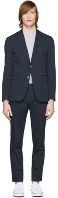BOSS Navy Hanry2 and Barlow1-D Suit