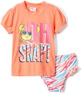 Sweet & Soft Coral 'Oh Snap' Rashguard Set - Infant & Toddler