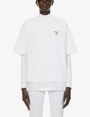 Prada Logo-print cotton-jersey T-shirt