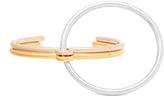 Charlotte Chesnais Three Lovers silver & gold-plated bracelet