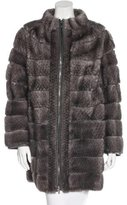 Giuliana Teso Mink Zip-Front Coat
