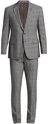 Ralph Lauren Purple Label Greg Two-Button Plaid Wool Suit