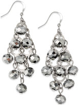 INC International Concepts Silver-Tone Rondelle Bead Drop Earrings