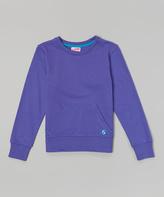 Soffe Neon Purple Year-Round Kangaroo Pocket Top - Girls