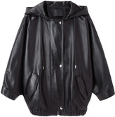 Alexander Wang hooded leather parka