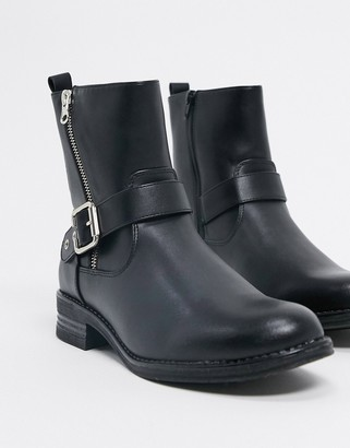 Call it SPRING livistona casual boots with buckle detail in black