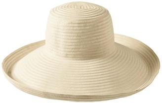 Bondi Beach Bag Co 3-7909 White Turn Up Sun Hat